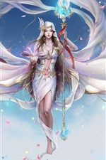 Preview iPhone wallpaper Artistic creation white fairy girl