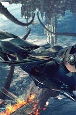 Preview iPhone wallpaper Battlefield creative space spacecraft