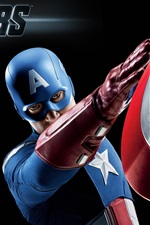 Preview iPhone wallpaper Captain America in The Avengers