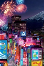 iPhone обои Cars 2 Tokyo City