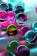 Preview iPhone wallpaper Colored glass balls