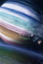 Красочные газовой планеты-гиганта