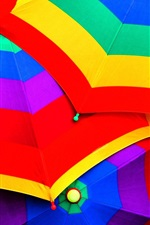Preview iPhone wallpaper Colorful umbrellas