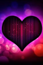 Темно-фиолетовый любовь сердце