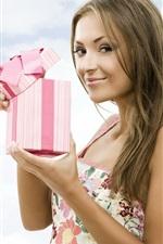 Holiday gift girl smile