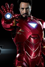 Preview iPhone wallpaper Iron Man in The Avengers