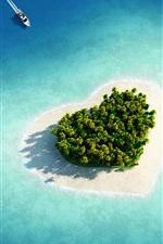 미리보기 iPhone 배경 화면 사랑의 섬