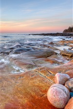 Preview iPhone wallpaper The seashore rocks