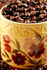 Preview iPhone wallpaper A cup of full of coffee beans