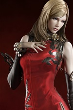 Preview iPhone wallpaper AION red dress blonde girl