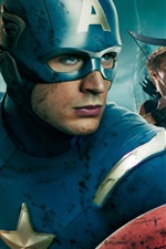 Preview iPhone wallpaper Captain America in The Avengers HD