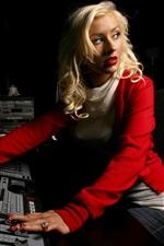 Preview iPhone wallpaper Christina Aguilera 02