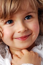 Preview iPhone wallpaper Cute little girl a sweet smile