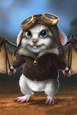 Preview iPhone wallpaper Cute rabbit pilot