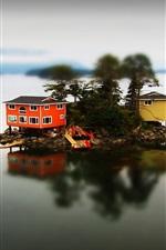 미리보기 iPhone 배경 화면 주택 섬 호수
