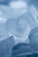 Preview iPhone wallpaper Ice Heart