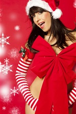 Preview iPhone wallpaper New year Christmas girl