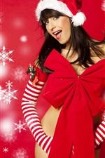 New year Christmas girl