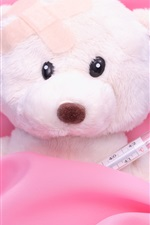 Preview iPhone wallpaper Teddy bear is ill