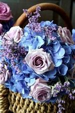 iPhone обои Корзина с цветами