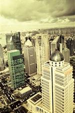Preview iPhone wallpaper City skyscrapers panorama sky