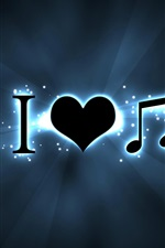 Preview iPhone wallpaper Creative I love music