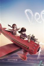 Preview iPhone wallpaper Cute red baron flight