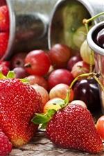 Delicioso morango e cereja