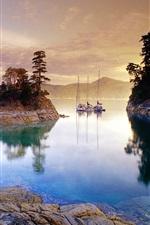 Evening lake views