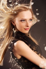 Preview iPhone wallpaper Fashion girl hair flying