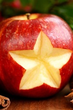 Preview iPhone wallpaper Festive red apple and decorative