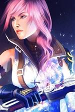 Preview iPhone wallpaper Final Fantasy XIII sword warrior girl