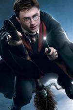 Preview iPhone wallpaper Flying in the sky of Harry Potter