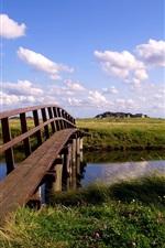 Preview iPhone wallpaper German landscape, single-plank bridge