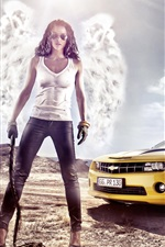Girl with Chevrolet car