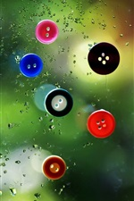 Glass buttons drops