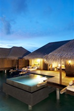 Preview iPhone wallpaper Hotel Maldives Indian Ocean