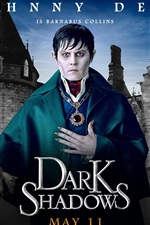 iPhone обои Джонни Депп в Dark Shadows