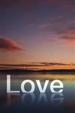 Preview iPhone wallpaper Love peace hope