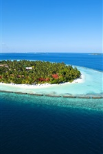 Preview iPhone wallpaper Maldives Paradise Island sea blue water