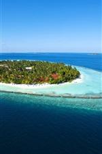Maldives Paradise Island água do mar azul