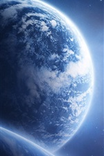 Preview iPhone wallpaper Planet Earth Space