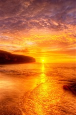 Preview iPhone wallpaper Red sunset beach and sky