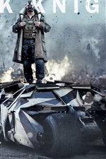 iPhone обои The Dark Knight поднимается широкий