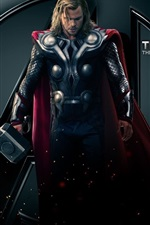 Preview iPhone wallpaper Thor, The god of thunder, The Avengers