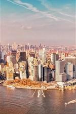 Preview iPhone wallpaper USA, New York Manhattan