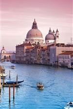 Preview iPhone wallpaper Venice Italy canal water city buildings