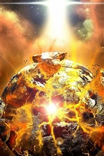 Preview iPhone wallpaper A violent explosion of the planet