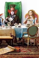 Preview iPhone wallpaper Alice in Wonderland