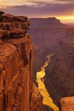 Preview iPhone wallpaper American landscape, canyons sunset